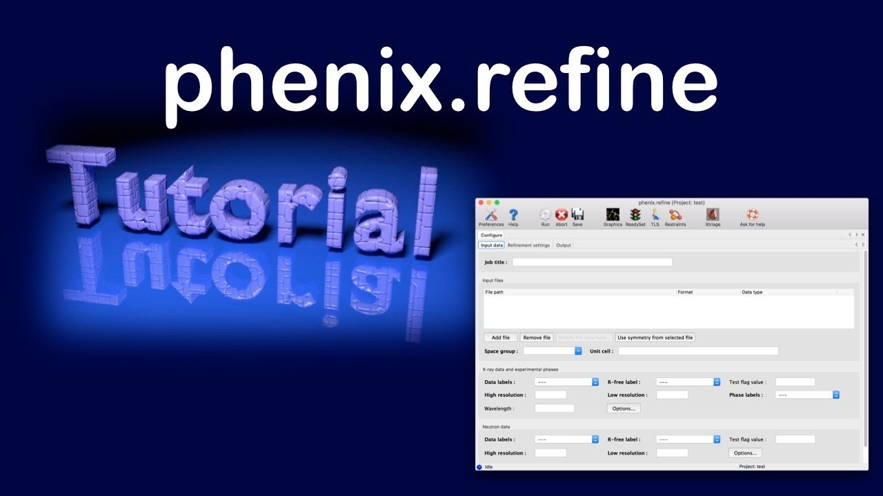 The phenix refine graphical interface