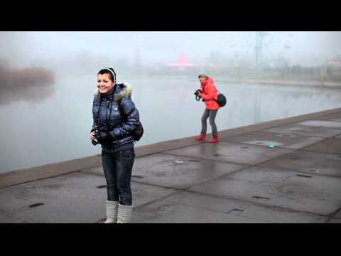 Isaeva and Agey Try to Shoot Mariupol City Landscape