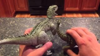 jurassic world indominus rex vs ankylosaurus toy review