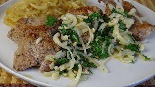Отбивные с карамелизированным луком. Джейми Оливер: Блюда из мяса.