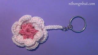 Hướng dẫn cách làm móc khóa hoa len