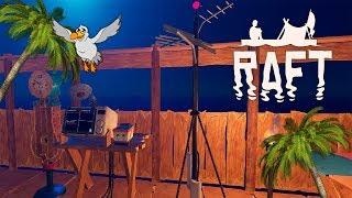 ПРИЕМНИК, АНТЕННА И БАТАРЕЙКА. НЫРЯЕМ И ПЛАВИМ СЛИТКИ - Raft #14