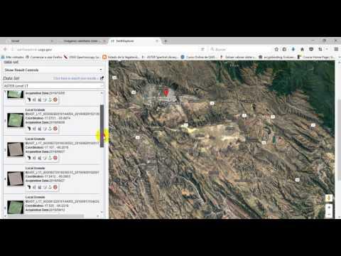 Como descargar una imagen satelital Aster