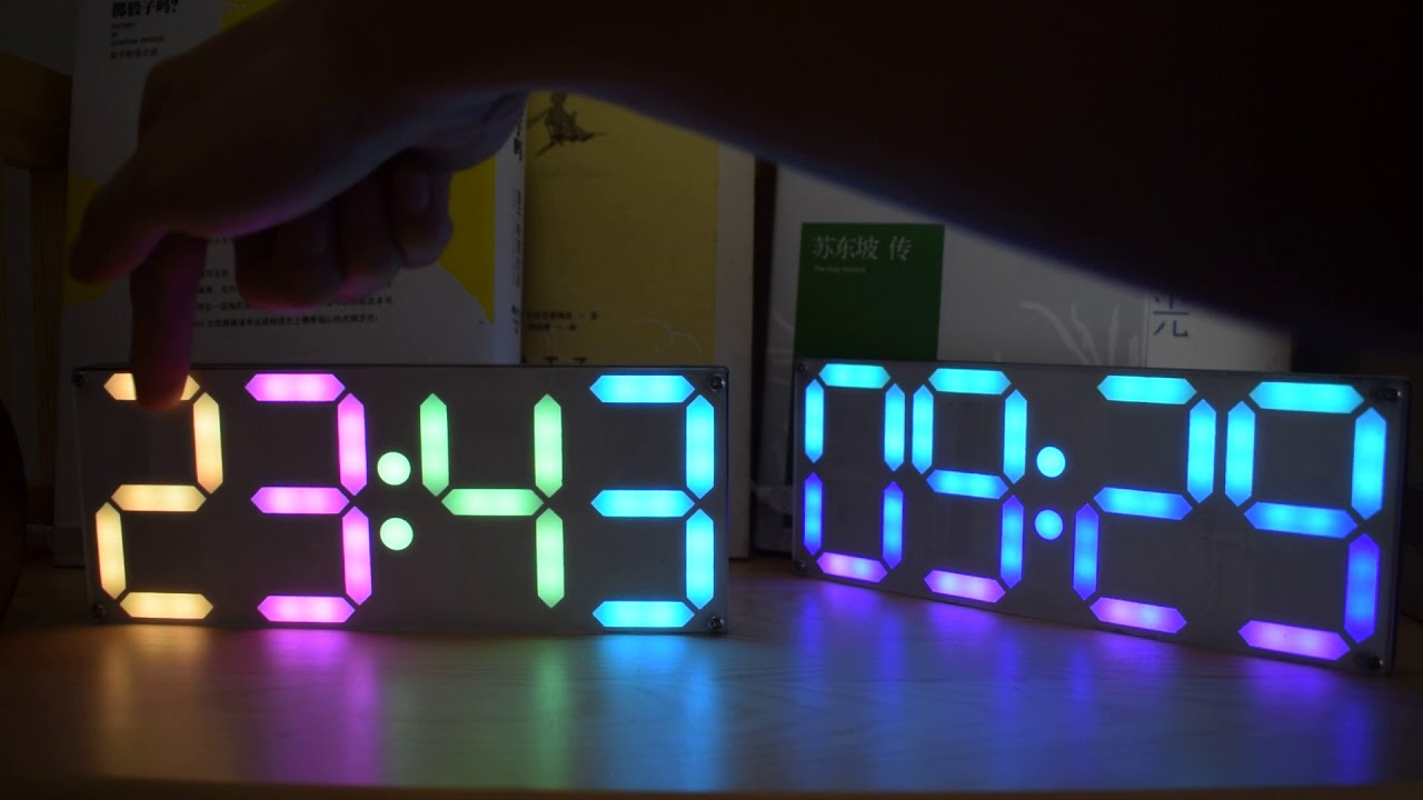Geekcreit® Large Size Rainbow Color Digital Tube DS3231 Clock DIY Kit