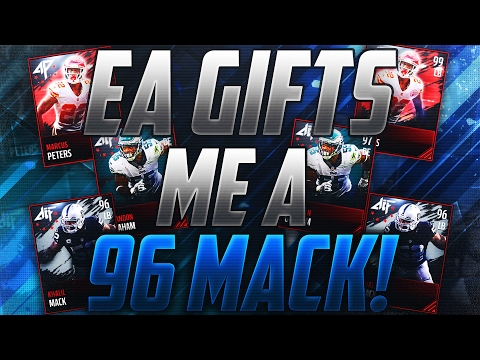 EA GIFTS ME 96 ALL PRO KHALIL MACK! INSANE LUCK! Madden Mobile 17