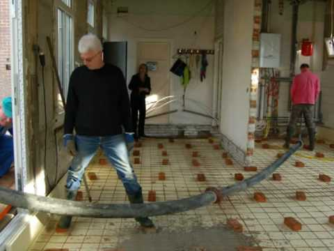 Beton storten - YouTube