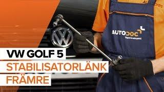 Byta Stabiliseringsstag bak vänster på VW GOLF V (1K1) - videoinstruktioner