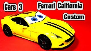 Pixar Cars 3 Ferrari California Custom Paint Kit Car for Kids with Miss Fritter Lightning McQueen