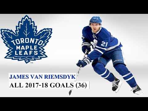 James Van Riemsdyk (#25) All 36 Goals of the 2017-2018 NHL Season