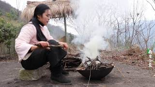 【南方小蓉】隱居深山,乳鴿做下酒菜,日子過得像神仙The girl lived in seclusion in a deep mountain baked pigeon and was hungry