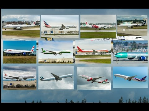 1 hour+ HD compilation Boeing 777s planespotting 2014-2015 Everett Paine field airport-PART 1
