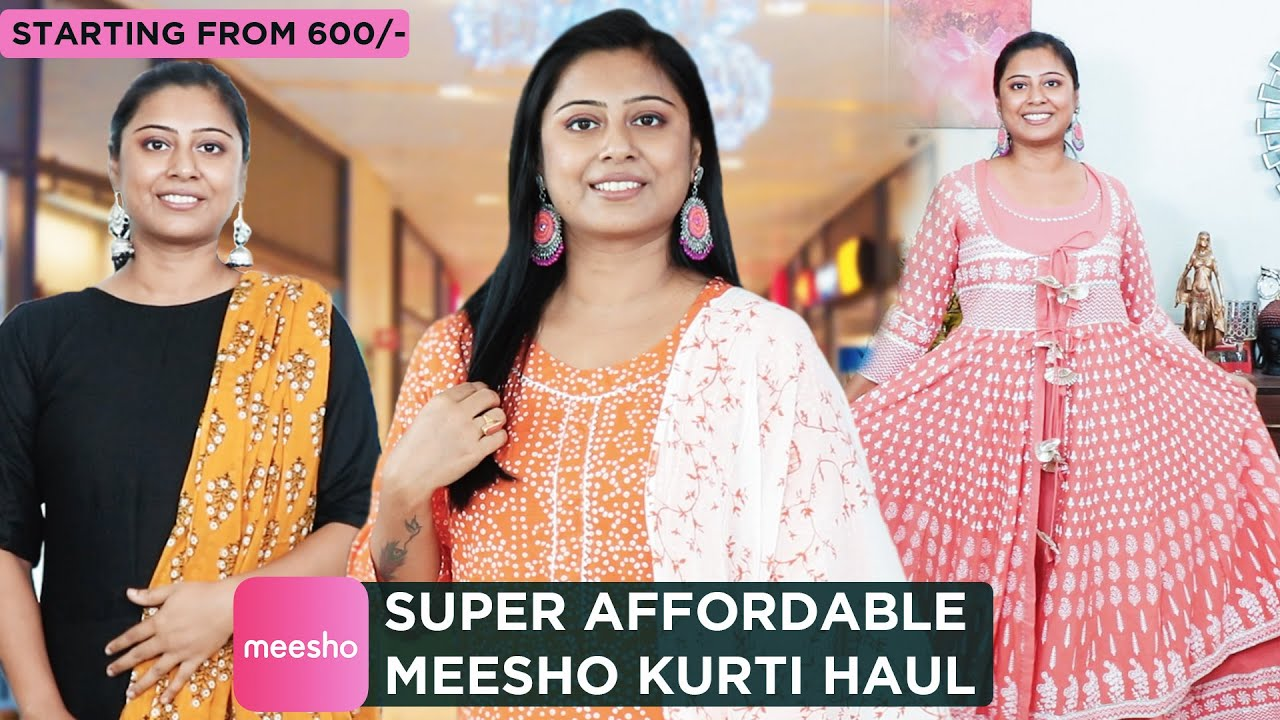 Meesho Cotton Kurti TRY ON HAUL || Affordable Kurtis Starting from 600/-