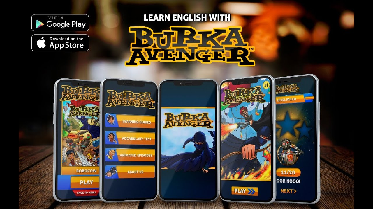 Learn English with Burka Avenger!