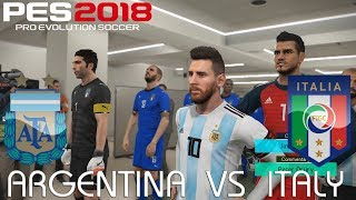 PES 2018 (PC) Argentina v Italy   INTERNATIONAL FRIENDLY   23/3/2018   1080P 60FPS