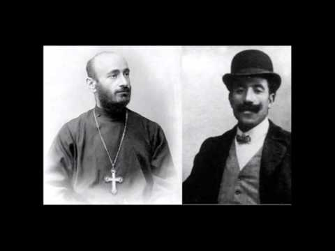 Armenak Shahmuradyan performing the songs of Komitas (Paris, 1912)