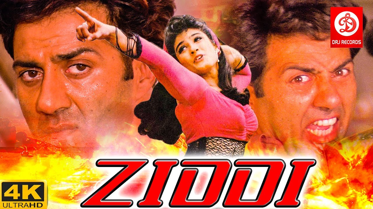 Ziddi ( ज़िद्दी )Bollywood Action Movies | Sunny Deol, Raveena Tandon | Romantic Action Drama Movie