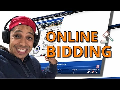 Copart Live Online Auction Bidding - Bidding on a parts car