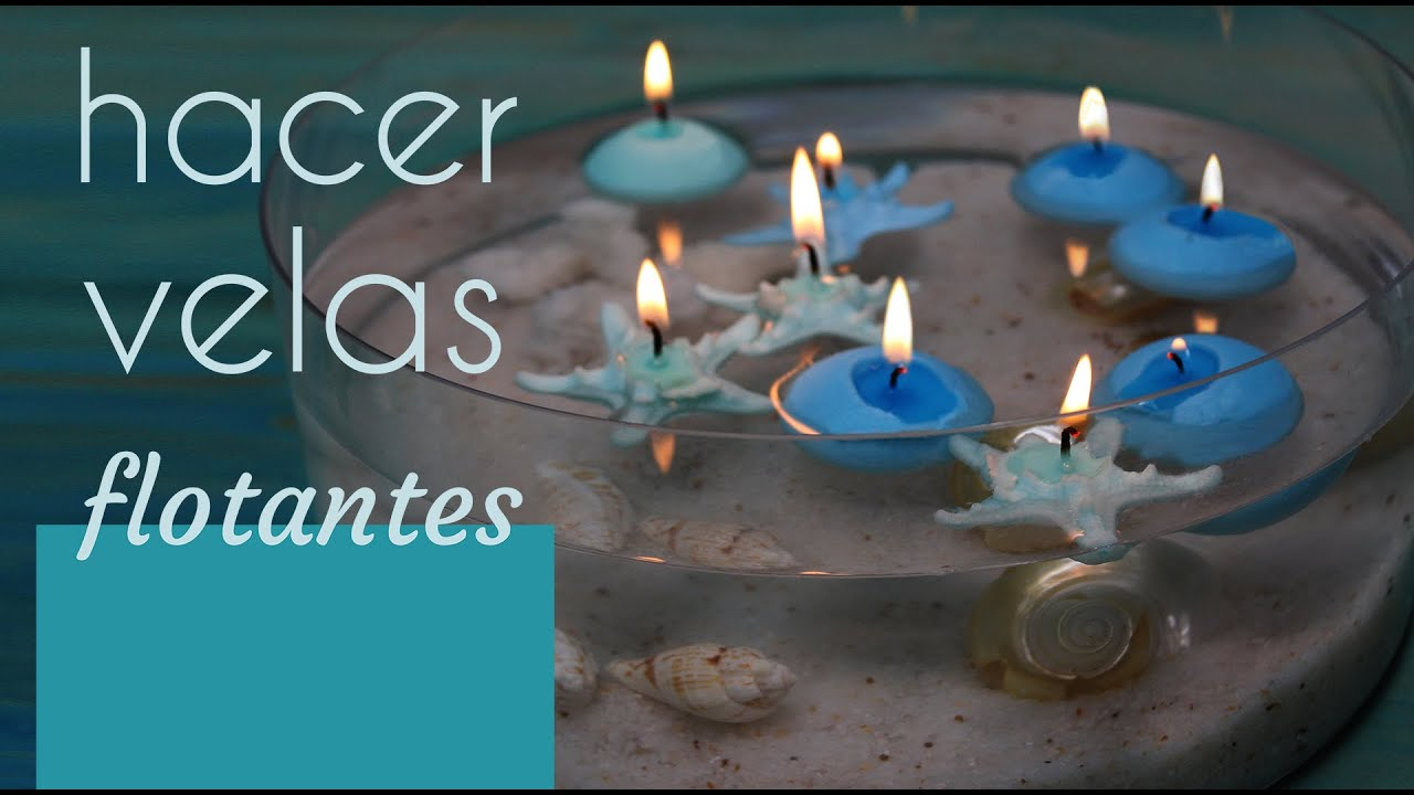 C mo hacer velas flotantes idea para crear un centro de - Como hacer velas en casa ...