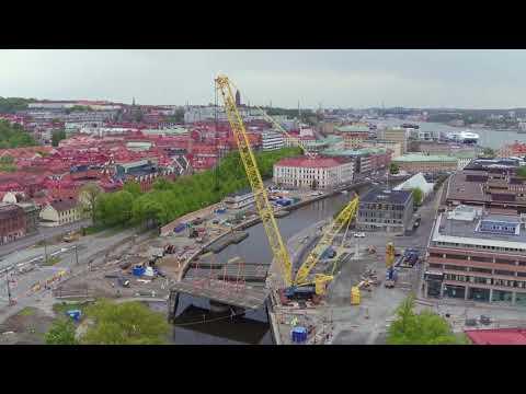 Västlänken – brolyft i Rosenlund | Trafikverket
