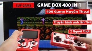 Máy chơi game cầm tay sup game 400 in  1 -  2 người chơi, kết nối lên tivi, Contra, Tank 1990, Mario