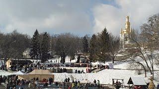 Maslenitsa Day & Crazy Knights Battle at Spivoche Pole, Kievo-Pechersk Lavra, Kiev