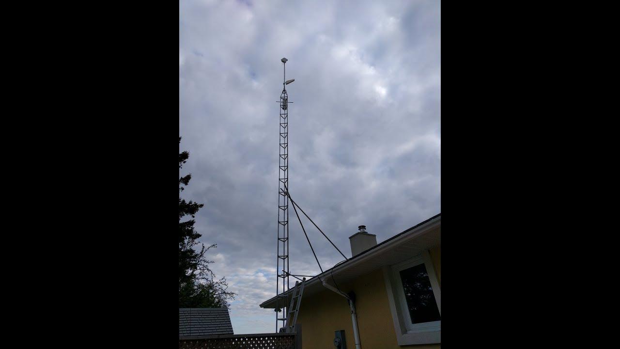 40ft Antenna Tower installation - Wireless Internet, Tv Antennas , Cell  Boosters