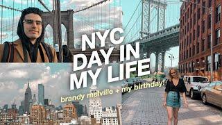 Day in My Life in NYC! brandy melville, brooklyn bridge + laduree soho