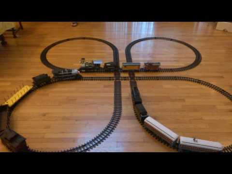 G Gauge – Cross Clover Eztec Track Layout for Battery Operated Trains