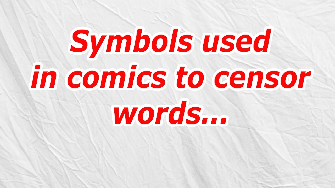 Symbols Used In Comics To Censor Words Codycross Answercheat