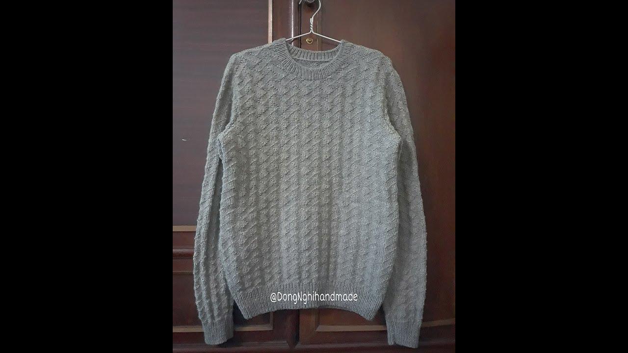 Hướng dẫn đan áo nam/Áo Chaly/ Phần 1
