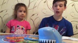 Веселая игра Акулья охота на скорость с кубиком