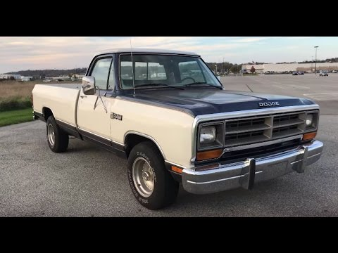 1987 Dodge RAM 150 LE Regular Cab Sweptline - YouTube