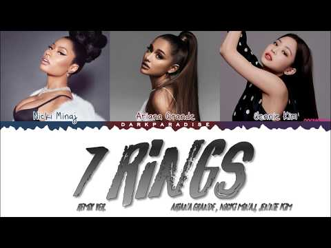 Ariana Grande - 7 Rings Feat. Nicki Minaj & JENNIE (Color Coded Lyrics)