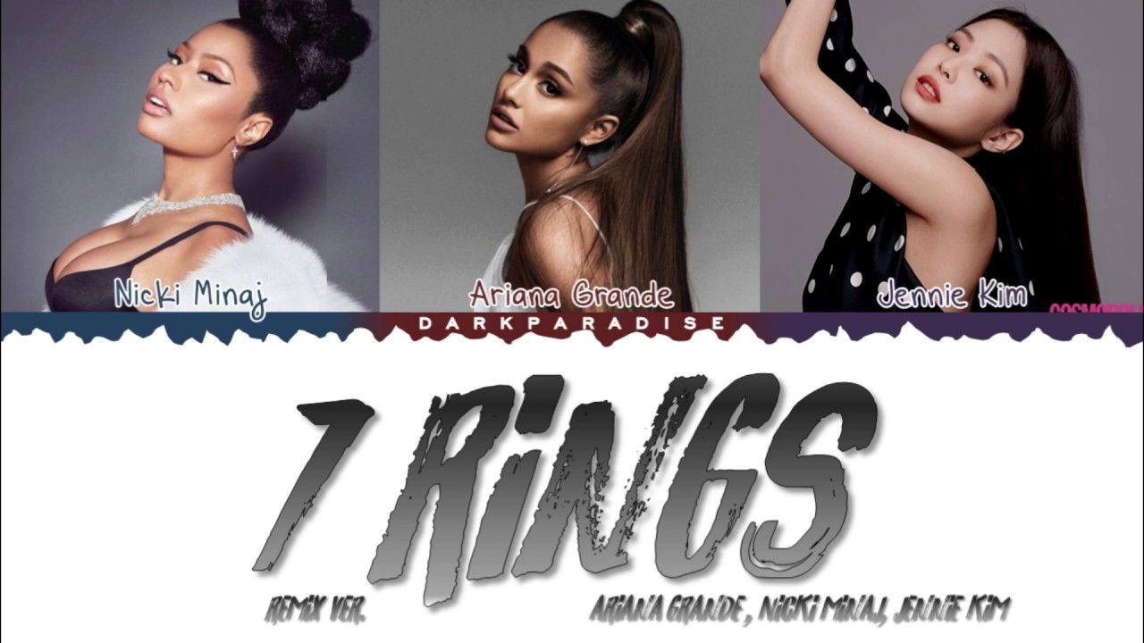 Download Ariana Grande - 7 rings feat. Nicki Minaj & JENNIE (Color Coded Lyrics)