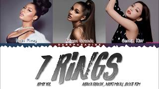 Ariana Grande - 7 rings feat. Nicki Minaj & JENNIE (Color Coded Lyrics)