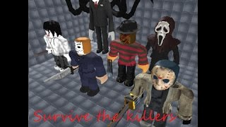 Lets Play Roblox Survive and kill the killers - the killers are real
