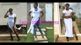 Style Diaries: 3 ways to style the t-shirt dress Thumbnail