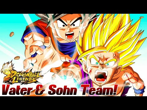 Mein Neues SSJ2 Son Gohan & SSJ Son Goku Team! Vater & Sohn Power! ;D | Dragon Ball Legends Deutsch
