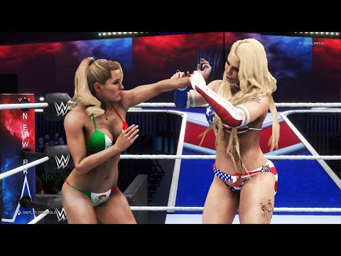 WWE 2K20 - Angela Storm vs. Mexican Lacey - Royal Girl Fight 😍