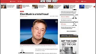 New York Post calls Elon Musk a Total Fraud - research Flat Earth - Mark Sargent ✅