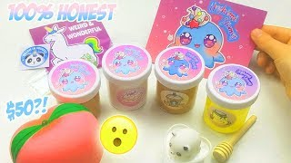 100% HONEST HOSHIMI SLIMES SLIME SHOP REVIEW *SO CHEAP AND KAWAII?!* *$50*