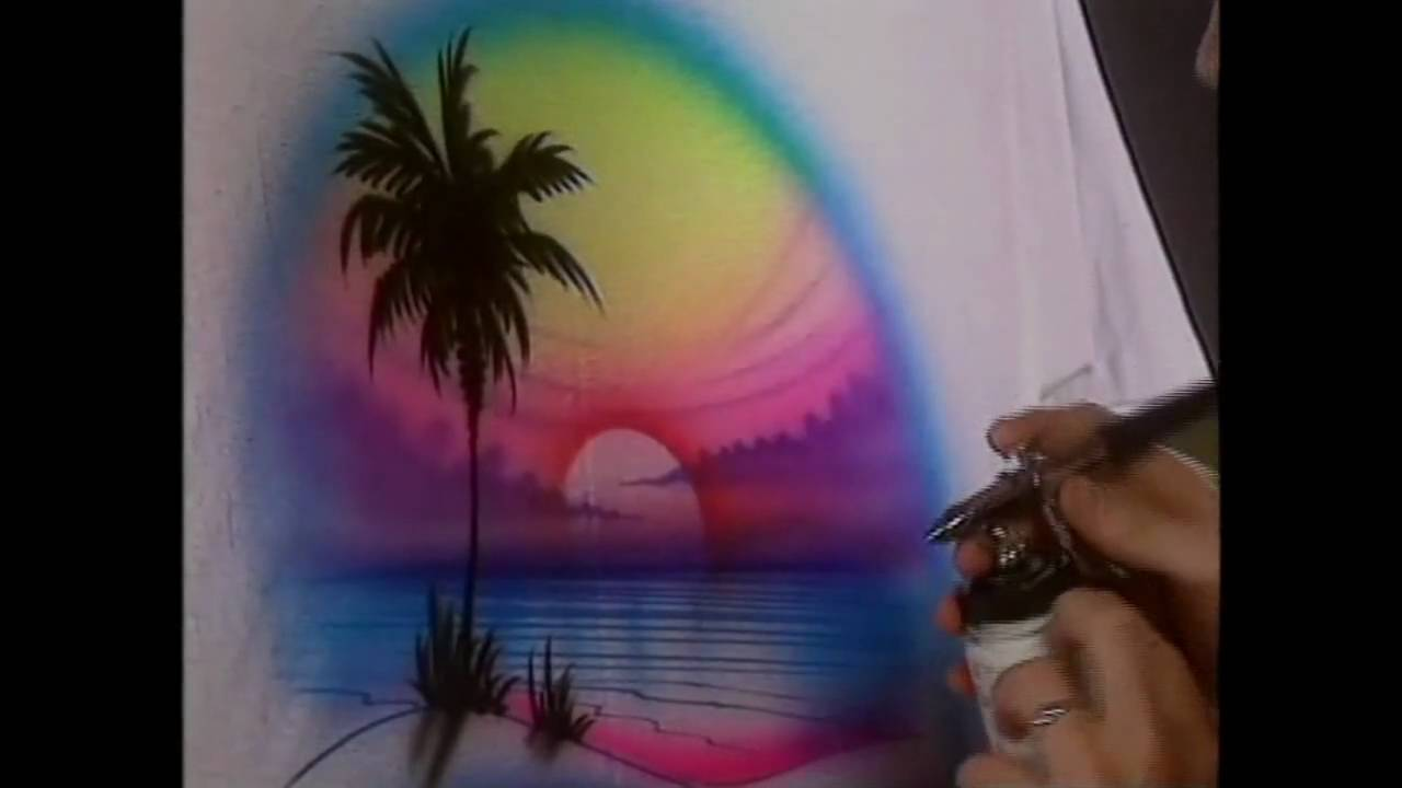 ca2e6928 T Shirt Airbrushing part5 - YouTube