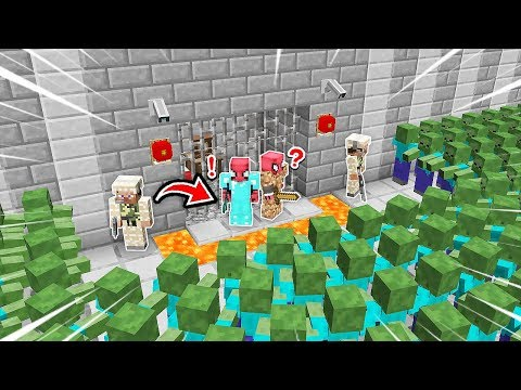 FAKİR'in EN GÜVENLİ HAPİSHANESİ VS ZOMBİ KIYAMETİ! 😱 - Minecraft