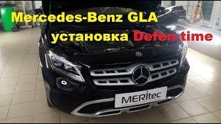 MERCEDES GLA  & Defen.time - видеоинструкция по установке блокиратора капота