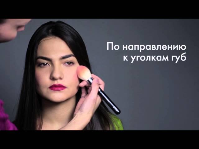 Как нанести румяна на разные формы лица