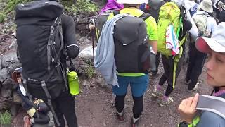 20170710 富士山登山富士一館後陡上.