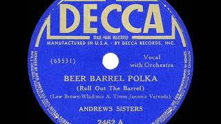 1939 HITS ARCHIVE: Beer Barrel Polka - Andrews Sisters