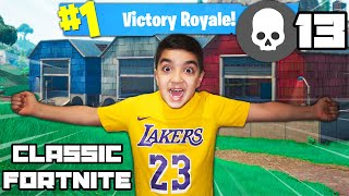 My Little Brother Plays Classic Fortnite! (FORTNITE CLASSIC MODE CHALLENGE!)