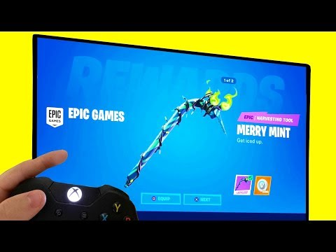 COLLECT YOUR FREE PICKAXE In Fortnite! (MERRY MINTY)
