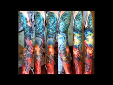 Outer space tattoo designs youtube for Outer space stage design